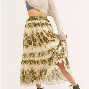 NEW FREE PEOPLE SPELL COCO LEI SKIRT IN OLIVE